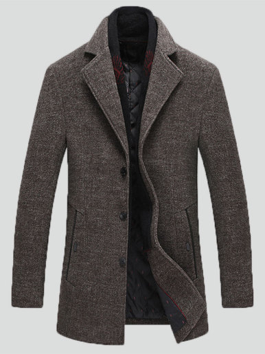 Men's Winter Thick Warm Wool Overcoat