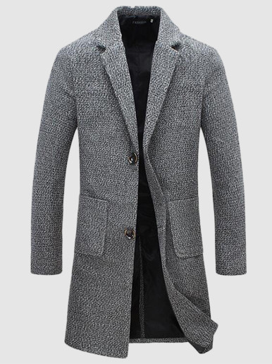 Slim Men Smart Overcoat