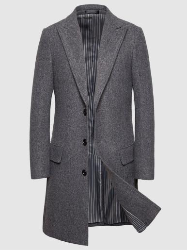 Faux Wool Smart Slim Men Windbreaker