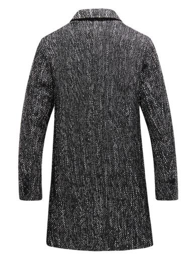 Multi Tweed Men Trench Coat