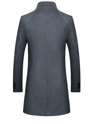 Thick Warm Men's Single Breasted Wool Blend Coat