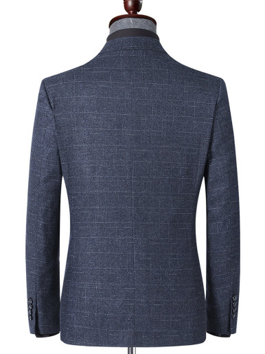 Slim Mens Texture Blazer In Grey