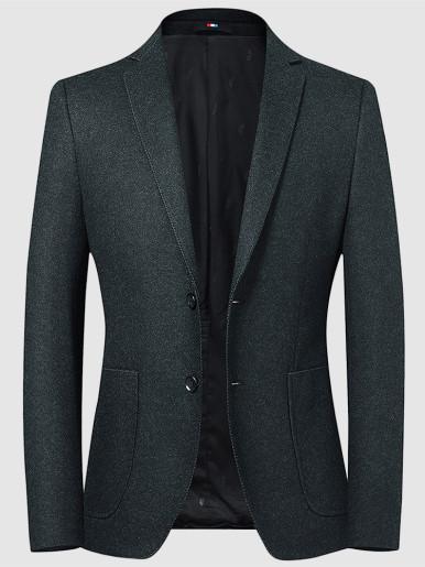Skinny Mens Wool Blend Blazer