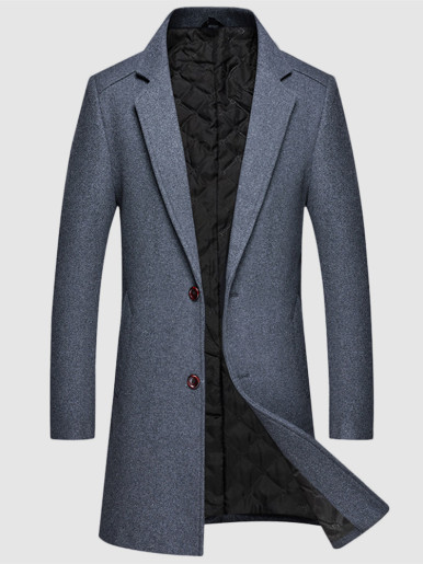 Winter Thick Warm Men's Wool Coat