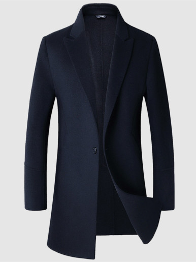 Men's Double-Sided Wool Trench Coat