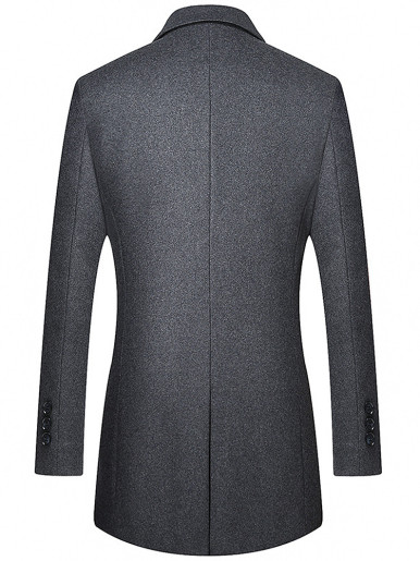 Thick Men Wool Mix Jacket