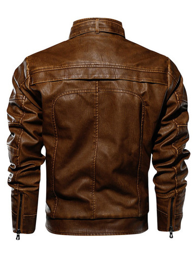 Tactical PU Leather Men Motorcycle Jacket