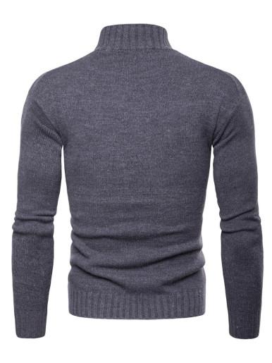 Solid Color Turtleneck Men Sweater