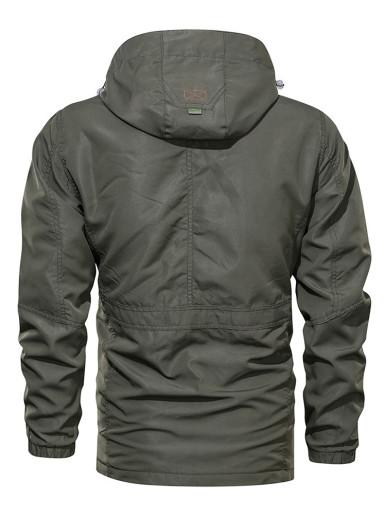 Multi Pocket Outdoor Hooded Men Jackets