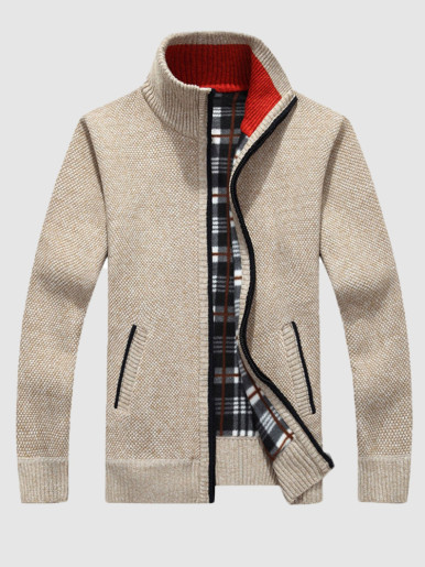 Men's Sweaters Slim Knitted Cardigan