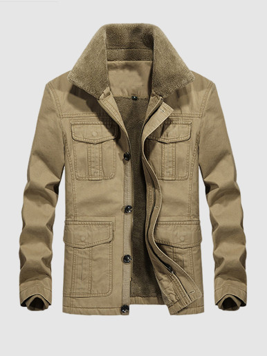 Fleece Lined Men's Utility Jacket