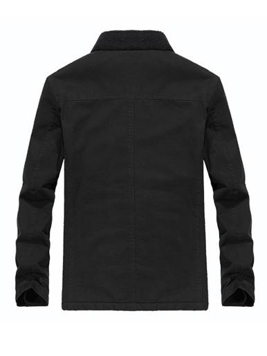 Fleece Lined Men's Utility Jacket