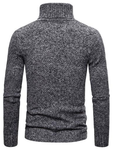 Solid Color Slim Men Turtleneck Sweaters