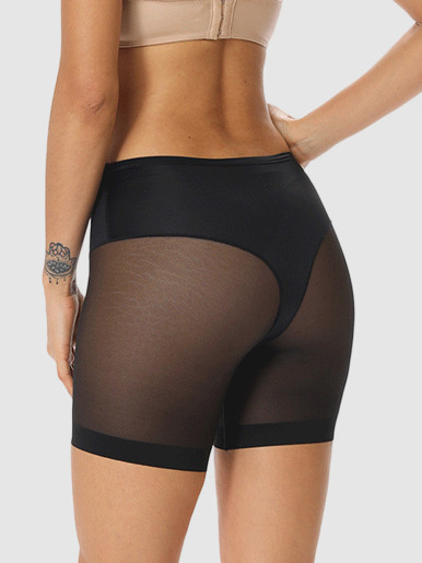 High Waist Shaping Panties Women Underwear Safety Pants Boxer Femme Short Mesh Seamless Panty Waist Trainer Slimming Body Shaper