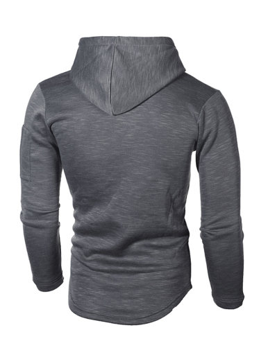 Men Solid Color Casual Long Sleeve Hoodie
