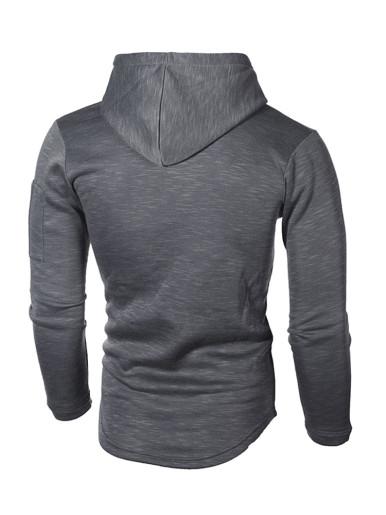 Men Solid Color Casual Long Sleeve Hoodie