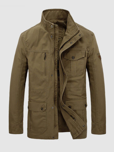 Plus Utility Jacket For Men