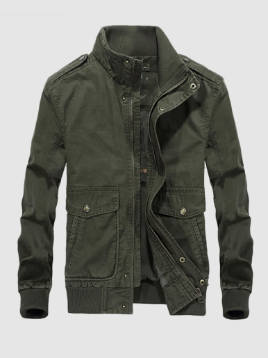 Funnel Neck Men's Utility Jacket