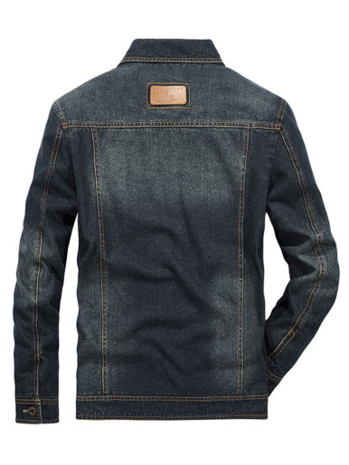 Regular Fit Men's Denim Jacket In Blue Wash