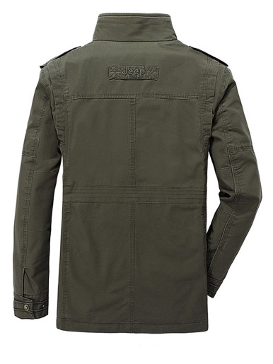 Plus Size Cotton Military Jacket For Men