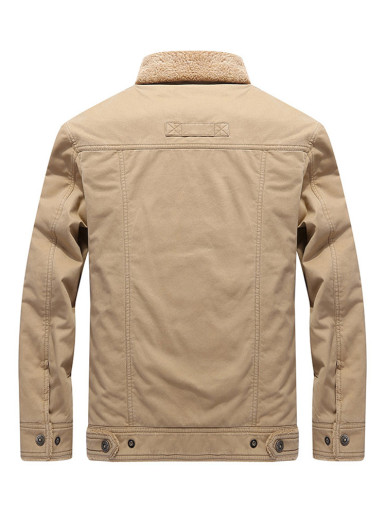 Men's Utility Jacket with Fleece Lining