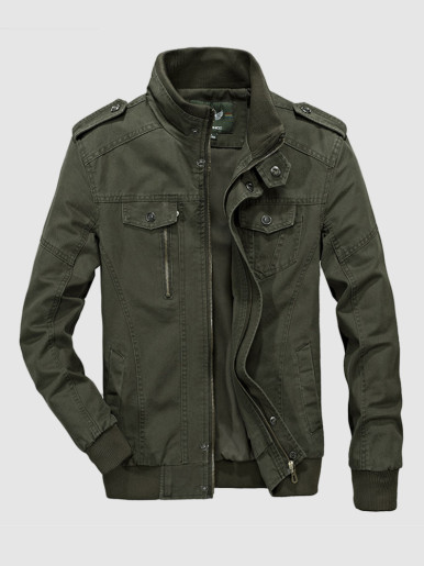 Cotton Utility Jacket For Men