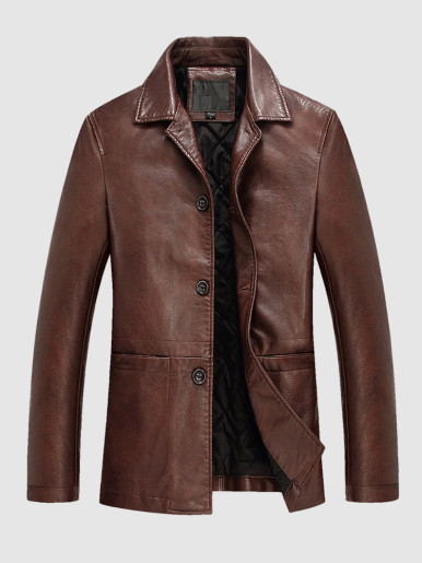 Warm Leather Jacket For Men