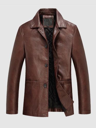 Warm Leather Jacket For Men
