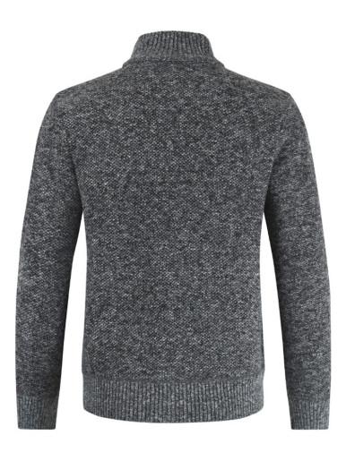 Knitted Texture Zipper Men's Sweater