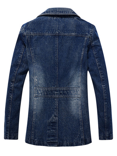 Wash Denim Jacket For Men