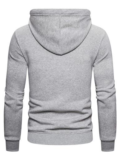 Men Hooded Zip Through Fleece Sweatshirt