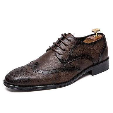 Leather Brogue Chunky Oxford Shoes For Men