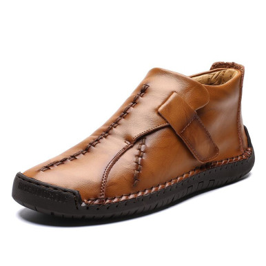 Men Leather Boots with Stitching