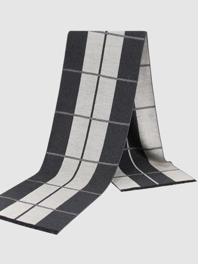 Stripe Long Cashmere Scarf For Men
