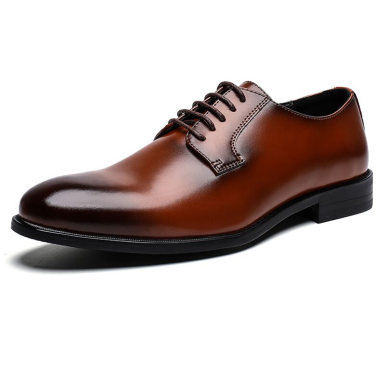 Men Leather Lace Up Oxford Shoes