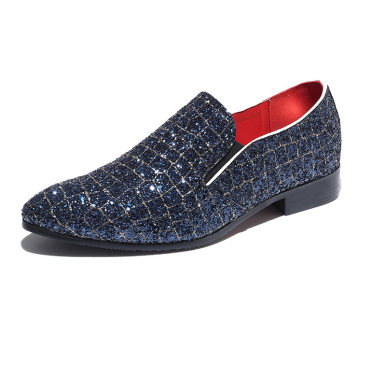 Men's Sparkly Loafers In Crocodile Print