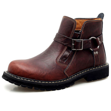 Men Non-slip Western Chelsea Boots with Buckle Detail