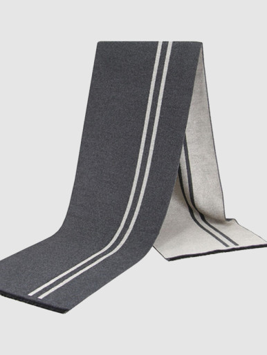 Reversible Gents Cashmere Scarf