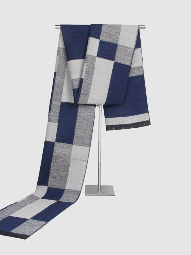 Classic Woven Check Cashmere Warm Men Scarf