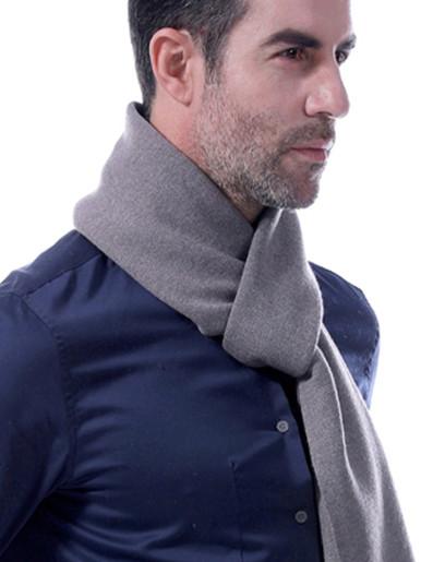 Men's Solid Reversible Wool Scarf