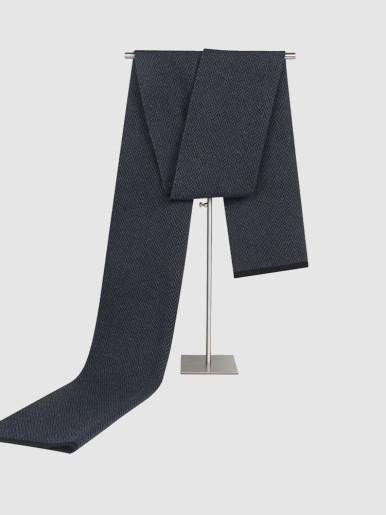 Herringbone Pattern Warm Wool Scarf For Men