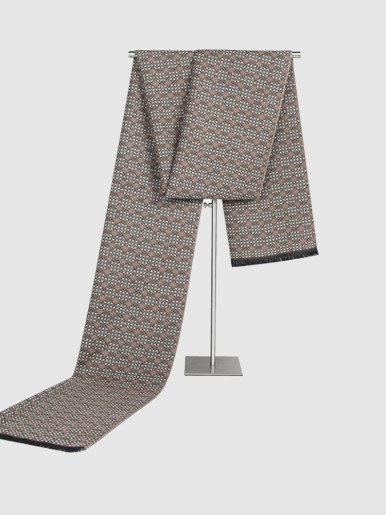 Winter Jacquard Cashmere Scarf For Men