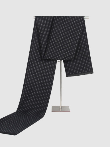 Men's Polka Dot Faux Cashmere Gents Scarf