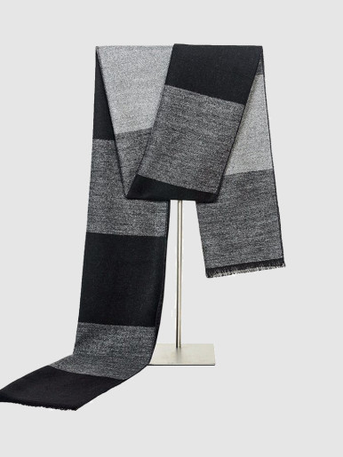 Winter Warm Men's Reversible Check Scarf