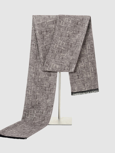 Reversible Texture Long Scarf For Men