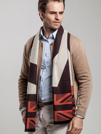 England Style Faux Cashmere Men Scarf