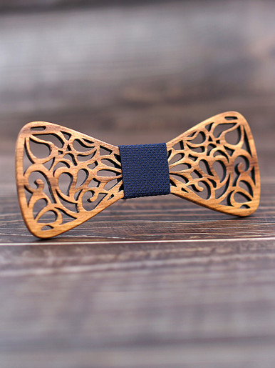 New Floral Wood Bow Set Ties for Men