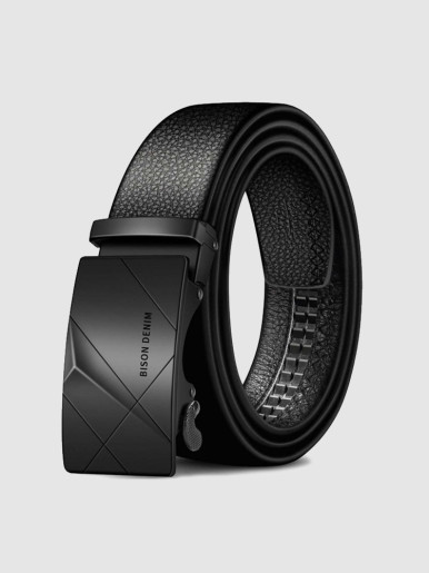 Alloy Buckle Leather Belt For Men