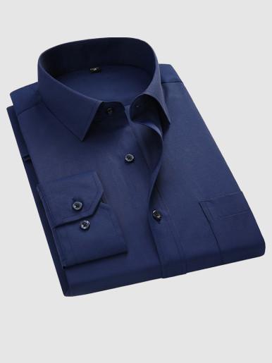 Regular Fit Long Sleeve Men Shirt