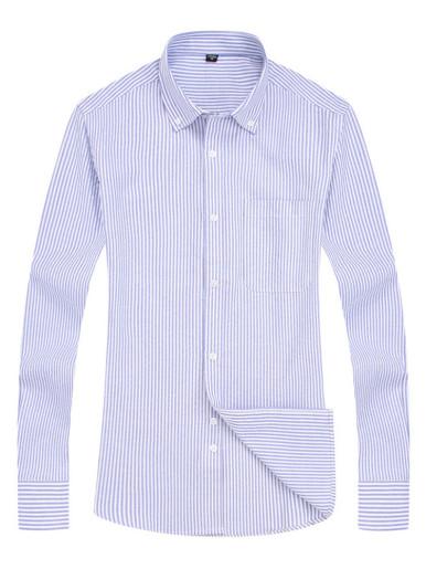 Long Sleeve Men Smart Shirt In Stripe
